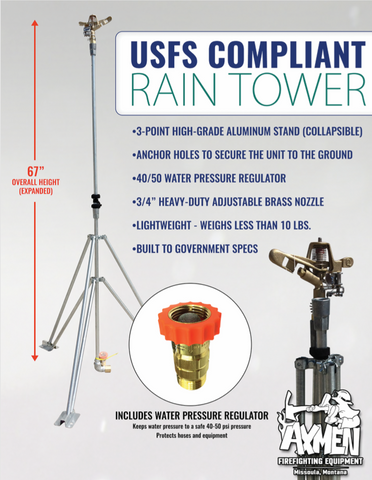 "Usfs Sprinkler Tower - 67"" High Tripod Aluminum"