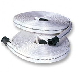 "Key Hose - 1"" Nh X 100' Forestry Hose Coup - White"
