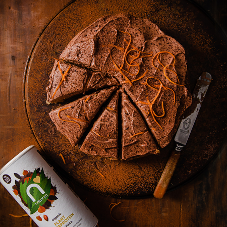 Carrot and Orange Cake with Chocolate Frosting