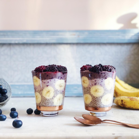 acai boosted chia pudding