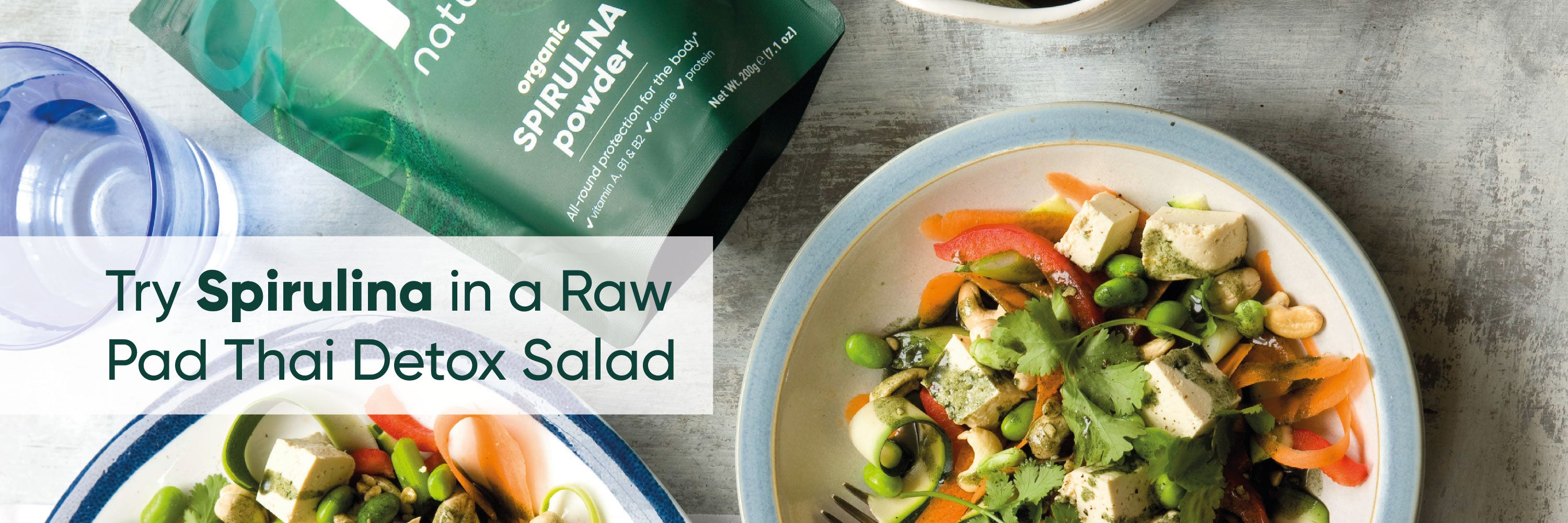 spirulina raw pad thai