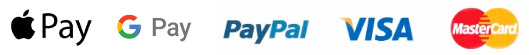 Payments with Apple Pay, Google Pay, PayPal, Visa and MasterCard