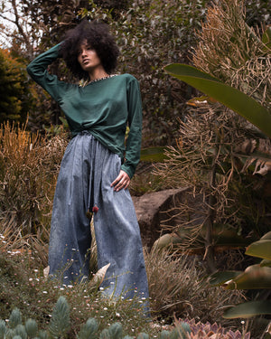wide leg palazzo cotton pants handcraft recycling fashion lilabare ships slow fashion from kenya to the world online boutique