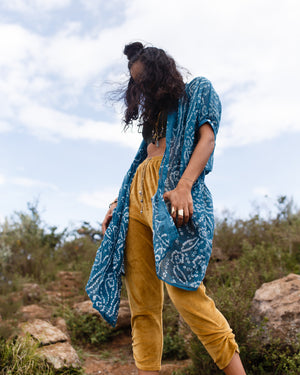 Lilabare is known for kimonos that are designed and crafted in Africa and India. Using the softest cotton with artisanal bandhani print this kimono fits every body of all shapes and sizes. It makes the perfect unique gift for someone you love . We ship worldwide from our online boutique and fashion designer studio based in Nairobi Kenya.