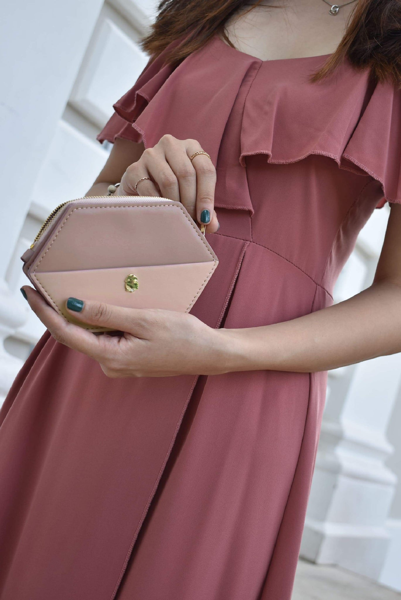 Odelia Hexagon Wallet (Pink)