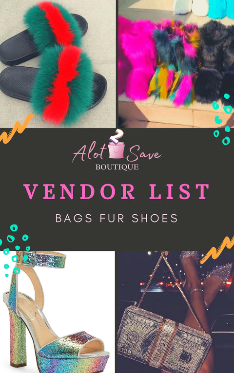 Bags/Fur Items/Shoes Vendor List (DownLoad Instantly)