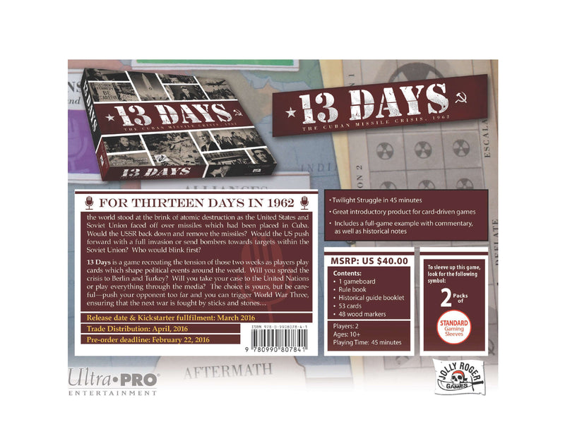 13 Days - The Cuban Missile Crisis, 1962 - Ultra PRO International