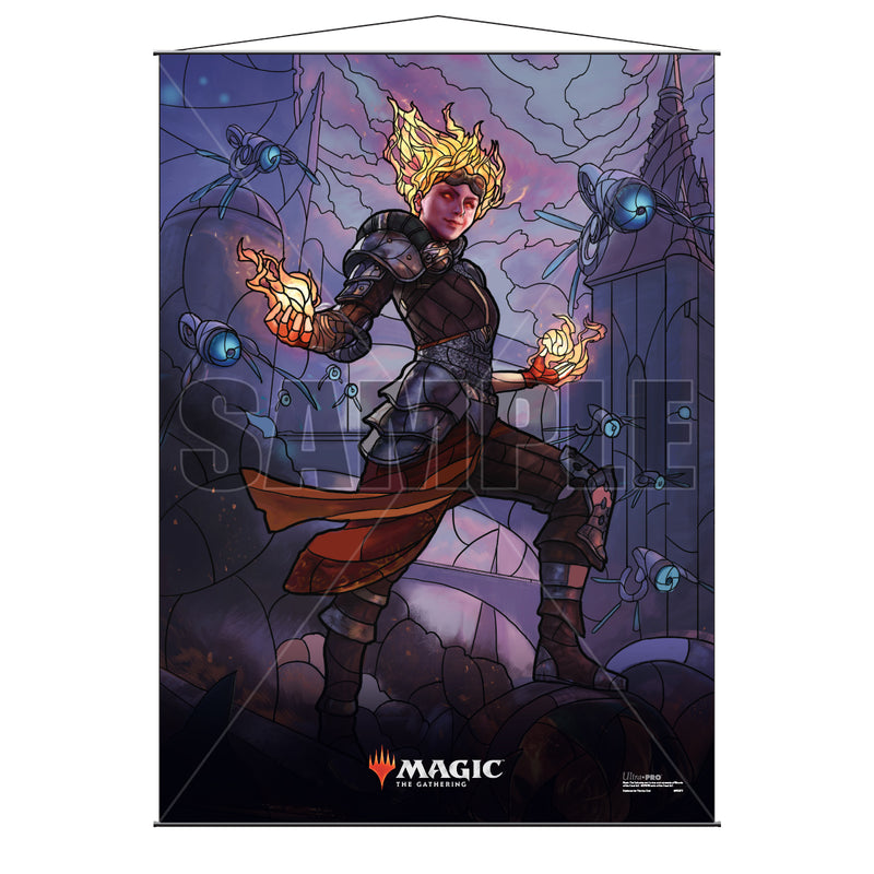 Magic: the Gathering - War of the Spark (WAR) Stained Glass Planeswalkers Wall Scroll Chandra - Ultra PRO International