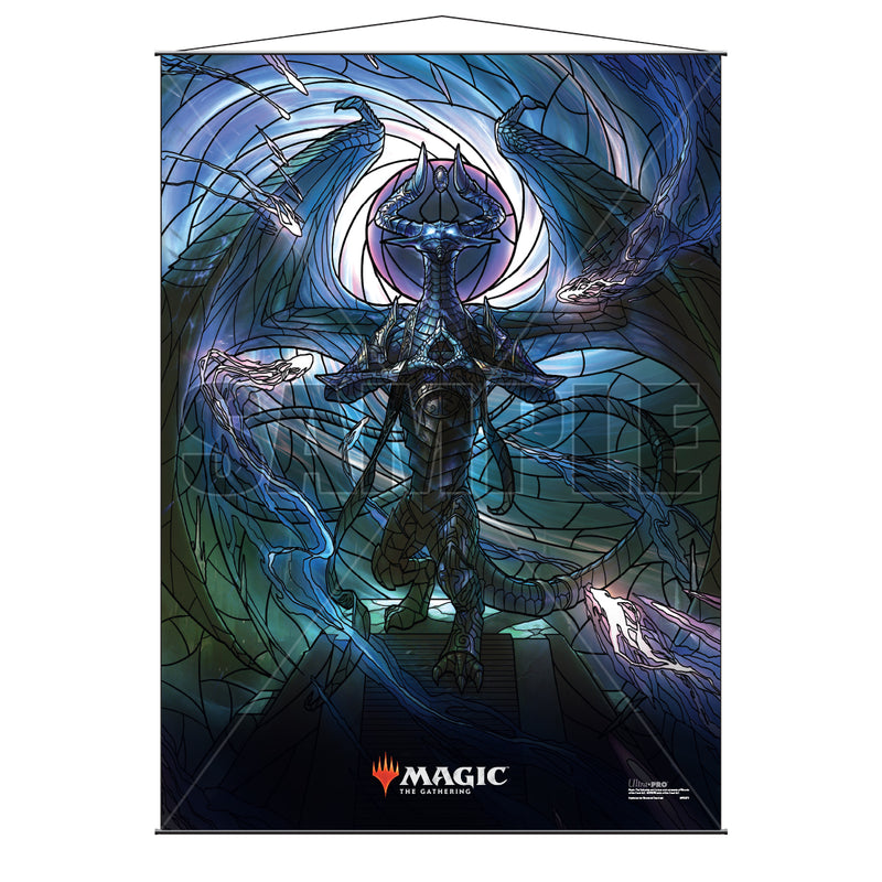 Magic: the Gathering - War of the Spark (WAR) Stained Glass Planeswalkers Wall Scroll Nicol Bolas - Ultra PRO International