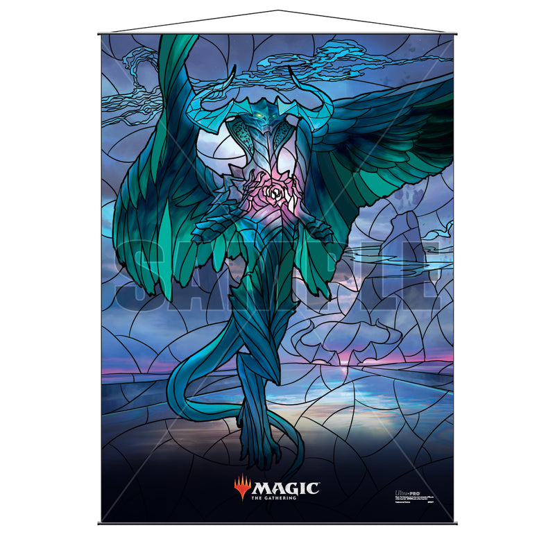 Magic: the Gathering - War of the Spark (WAR) Stained Glass Planeswalkers Wall Scroll Ugin