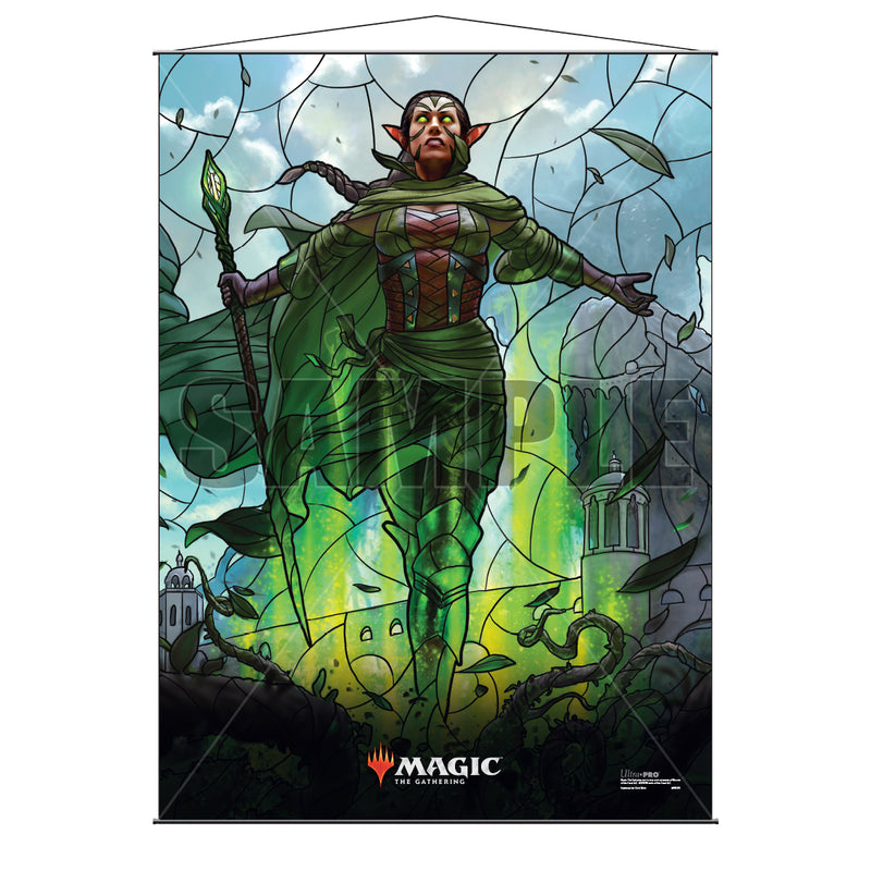 Magic: the Gathering - War of the Spark (WAR) Stained Glass Planeswalkers Wall Scroll Nissa - Ultra PRO International