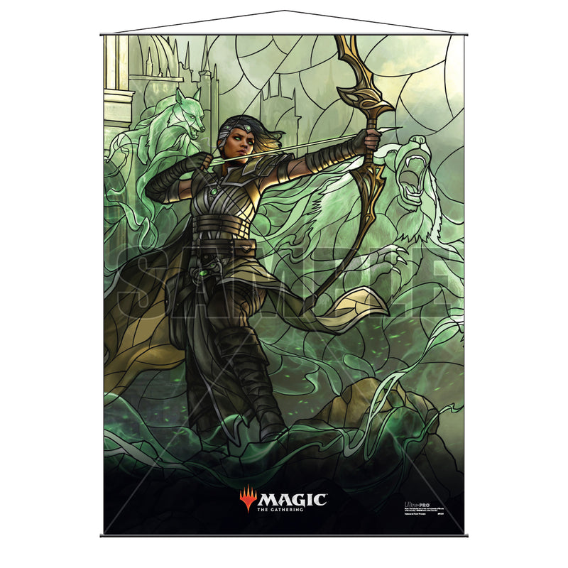 Magic: the Gathering - War of the Spark (WAR) Stained Glass Planeswalkers Wall Scroll Vivien - Ultra PRO International