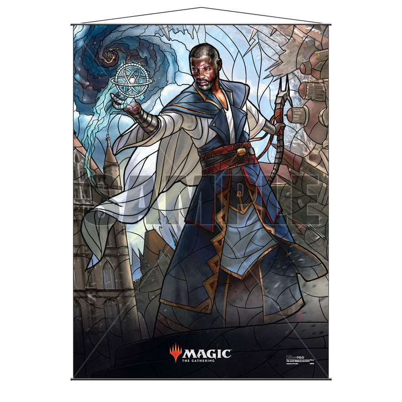 Magic: the Gathering - War of the Spark (WAR) Stained Glass Planeswalkers Wall Scroll Teferi