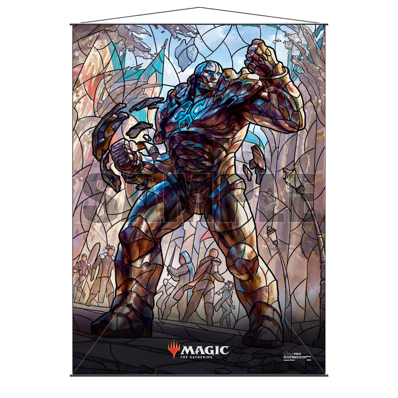 Magic: the Gathering - War of the Spark (WAR) Stained Glass Planeswalkers Wall Scroll Karn