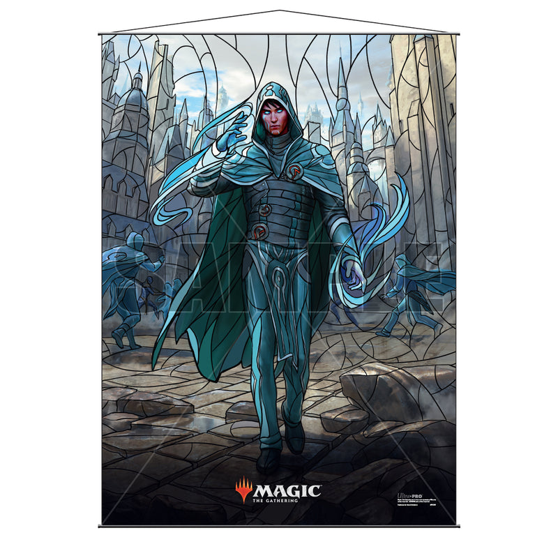 Magic: the Gathering - War of the Spark (WAR) Stained Glass Planeswalkers Wall Scroll Jace