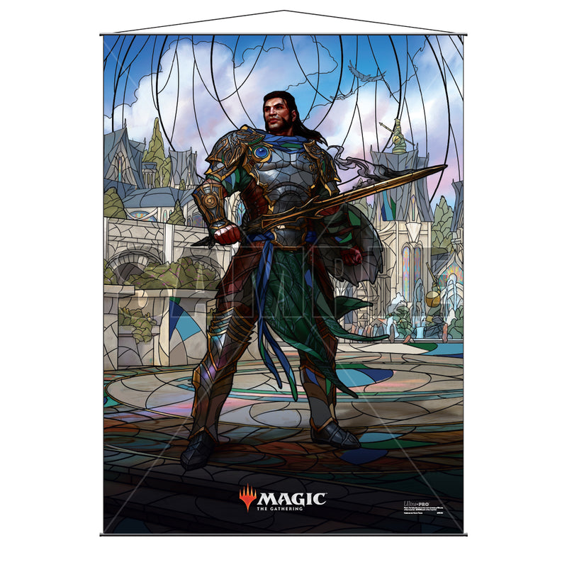 Magic: the Gathering - War of the Spark (WAR) Stained Glass Planeswalkers Wall Scroll Gideon - Ultra PRO International