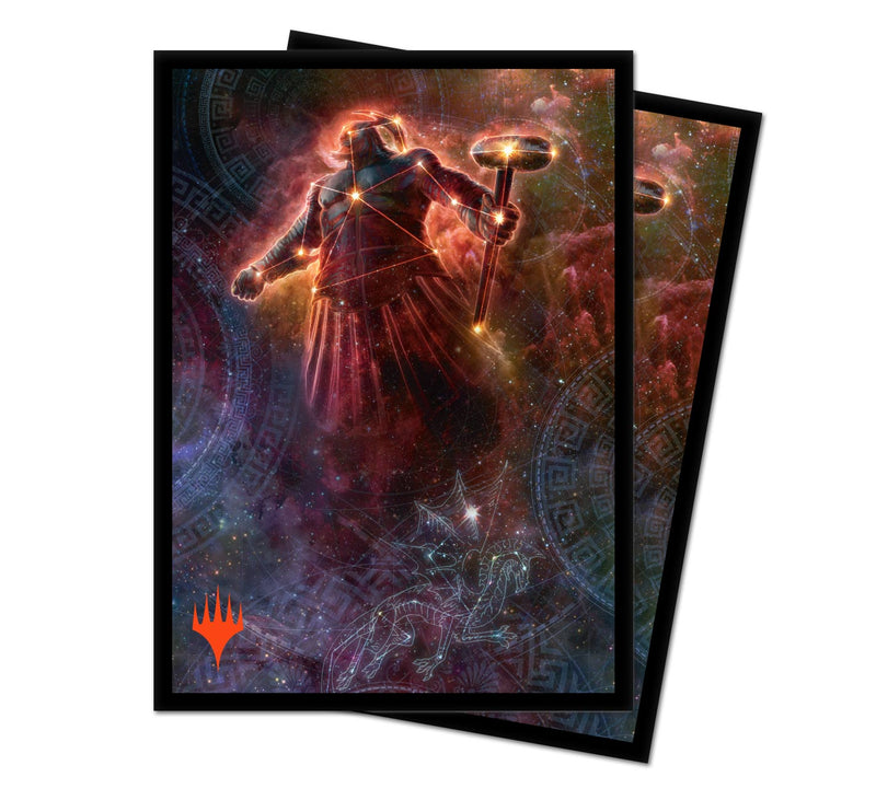 "Theros Beyond Death ""Purphoros, Bronze-Blooded"" Alt Art Deck Protectors (100 ct.) - Ultra PRO International"