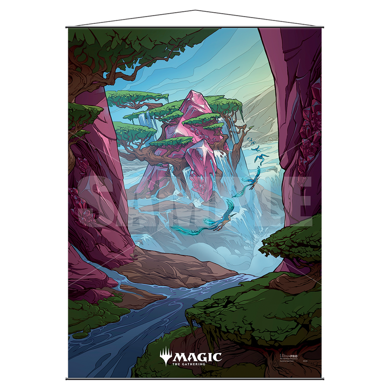 "Ikoria: Lair of Behemoths ""Ketria Triome"" Wall Scroll for Magic: the Gathering - Ultra PRO International"