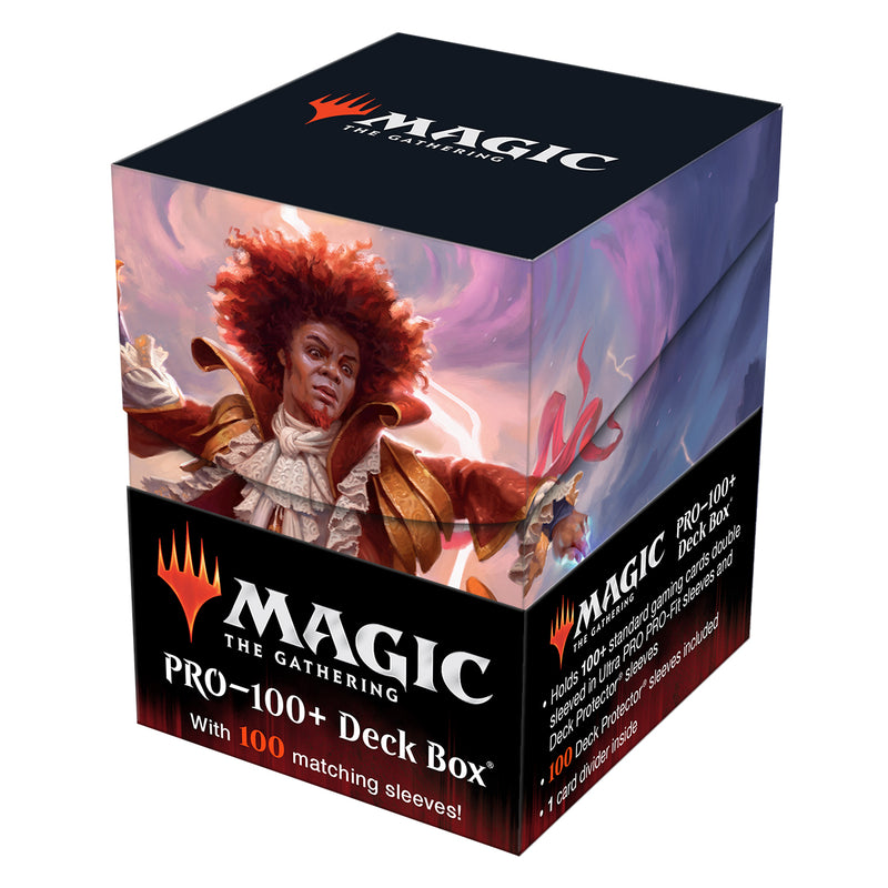 Zaffai, Thunder Conductor Strixhaven Commnander PRO 100+ Deck Box and 100ct Sleeves Featuring Prismari for Magic: The Gathering