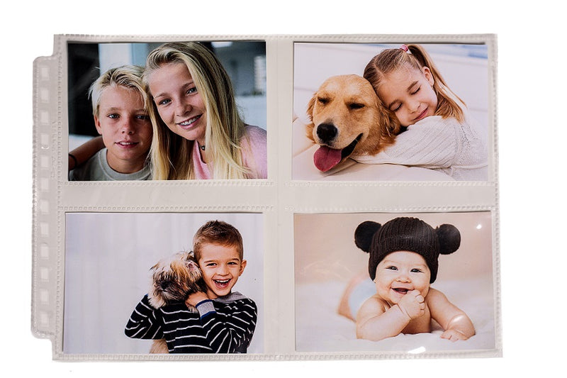 "12-Hole Horizontal Photo Page for 3.5"" x 4.5"" Prints (25 ct.) - Ultra PRO International"