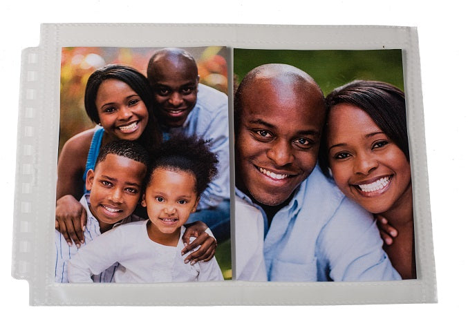 "12-Hole Horizontal Photo Page for 5"" x 7"" Prints (25 ct.) - Ultra PRO International"