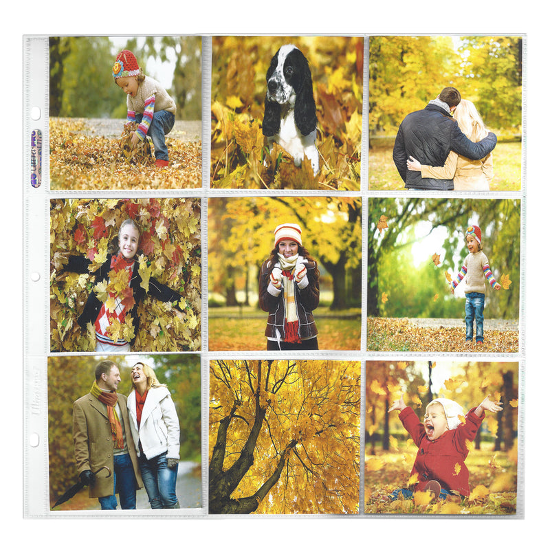 "12"" x 12"" 9-Pocket Page for 4"" x 4"" Prints (10 ct.) - Ultra PRO International"