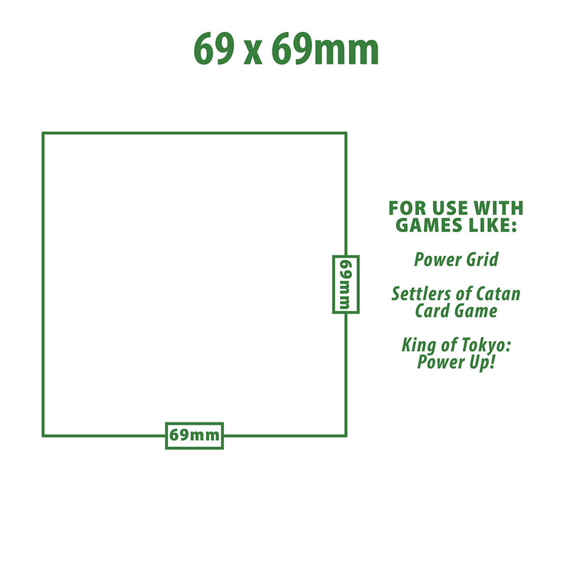 69mm X 69mm Board Game Sleeves (50 ct.)