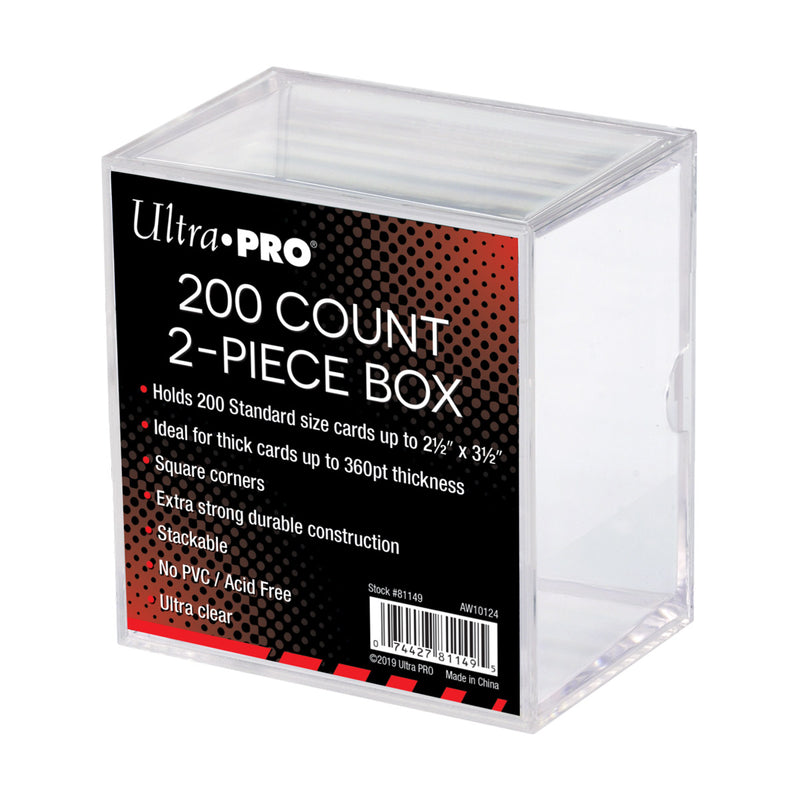 2-Piece 200 ct. Clear Card Storage Box - Ultra PRO International