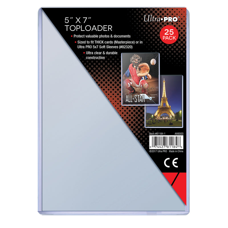"5"" X 7"" Toploader 25ct - Ultra PRO International"