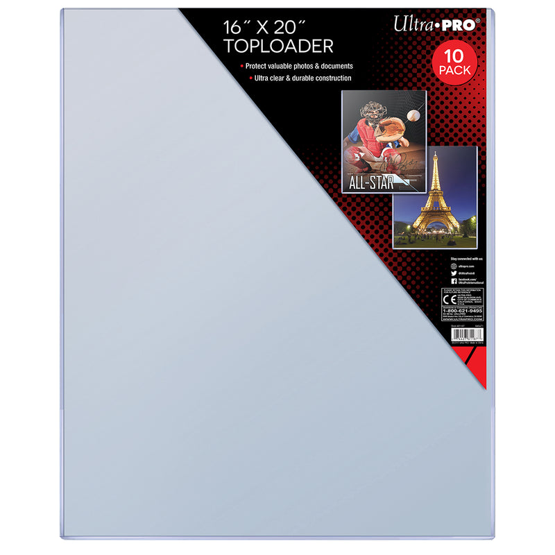 "16"" X 20"" Toploader (10 ct.) - Ultra PRO International"