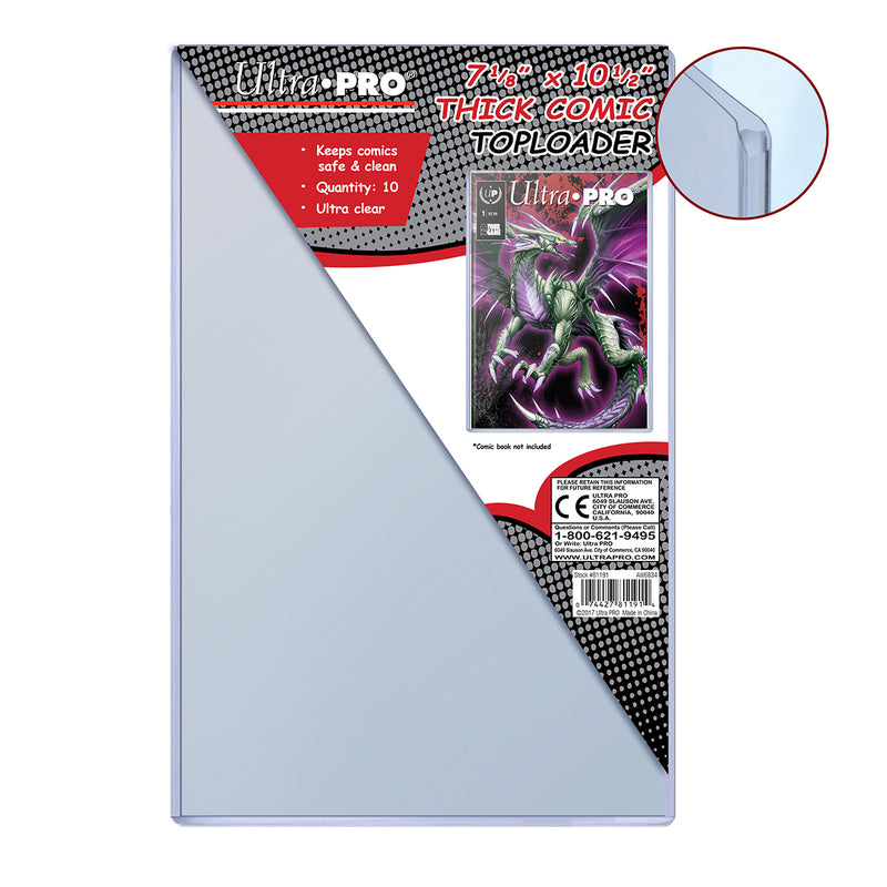 "7-1/8"" X 10-1/2"" Thick Comic Toploader (10 ct.) - Ultra PRO International"