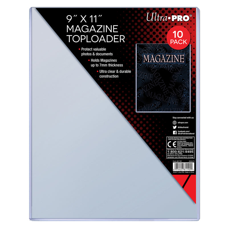 "9"" X 11-1/4"" Thick Magazine Toploader (10 ct.) - Ultra PRO International"