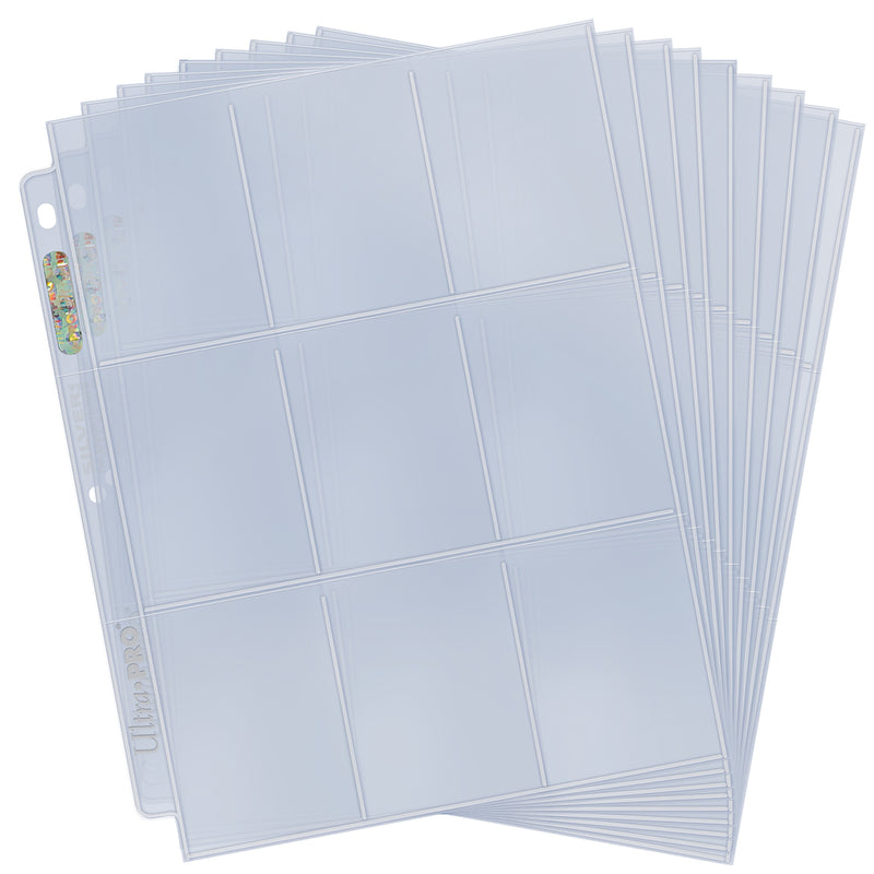 Silver Series 9-Pocket Page for Standard Size Cards (50 ct. refill pack)