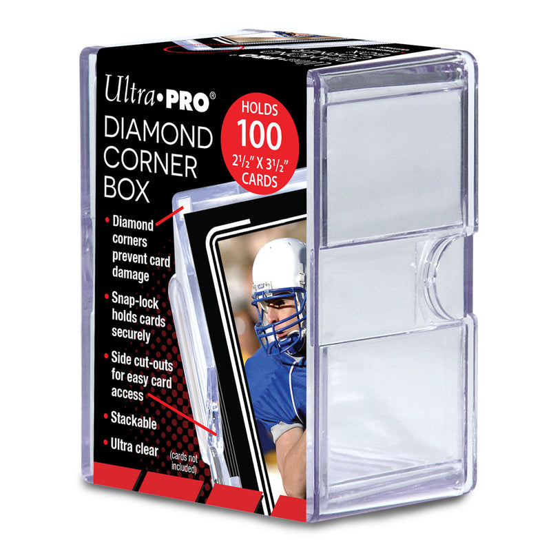 Clear Diamond Corner 100+ Card Storage Box - Ultra PRO International