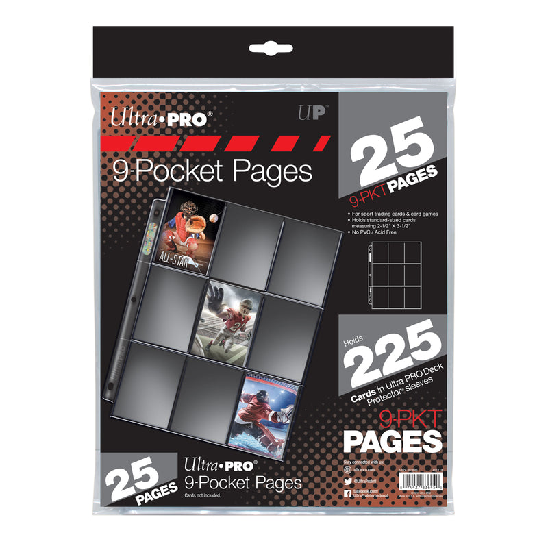 Silver Series 9-Pocket Pages (25 ct. retail pack) - Ultra PRO International
