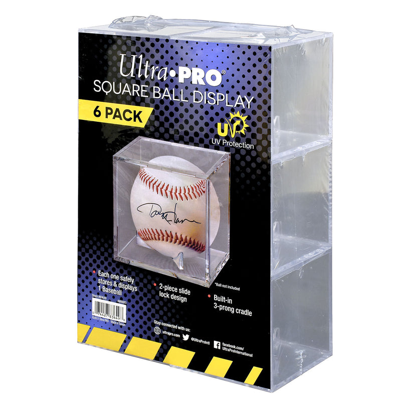 Baseball Clear Square UV Holder Value (6 ct. retail pack) - Ultra PRO International