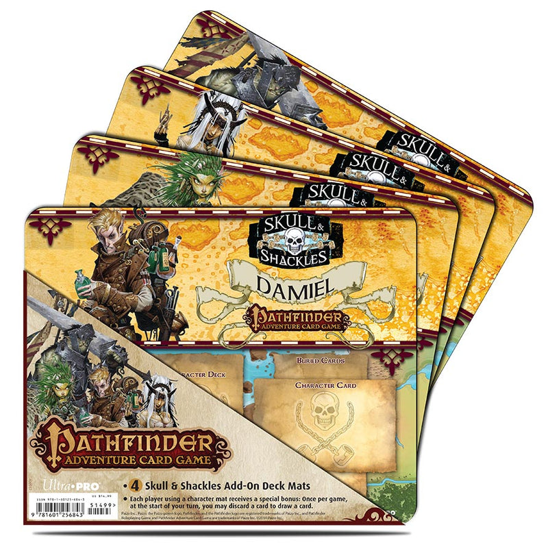Pathfinder Adventure Card Game: Skull & Shackles Expansion Mini Mat 4 Pack - Ultra PRO International