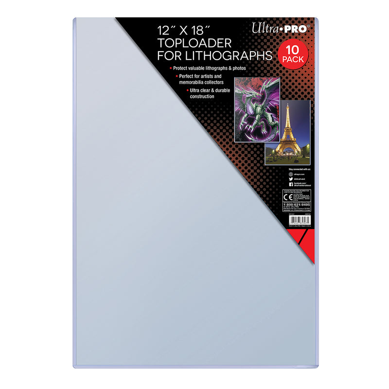 "12"" x 18"" Toploader for Lithographs (10 ct.) - Ultra PRO International"