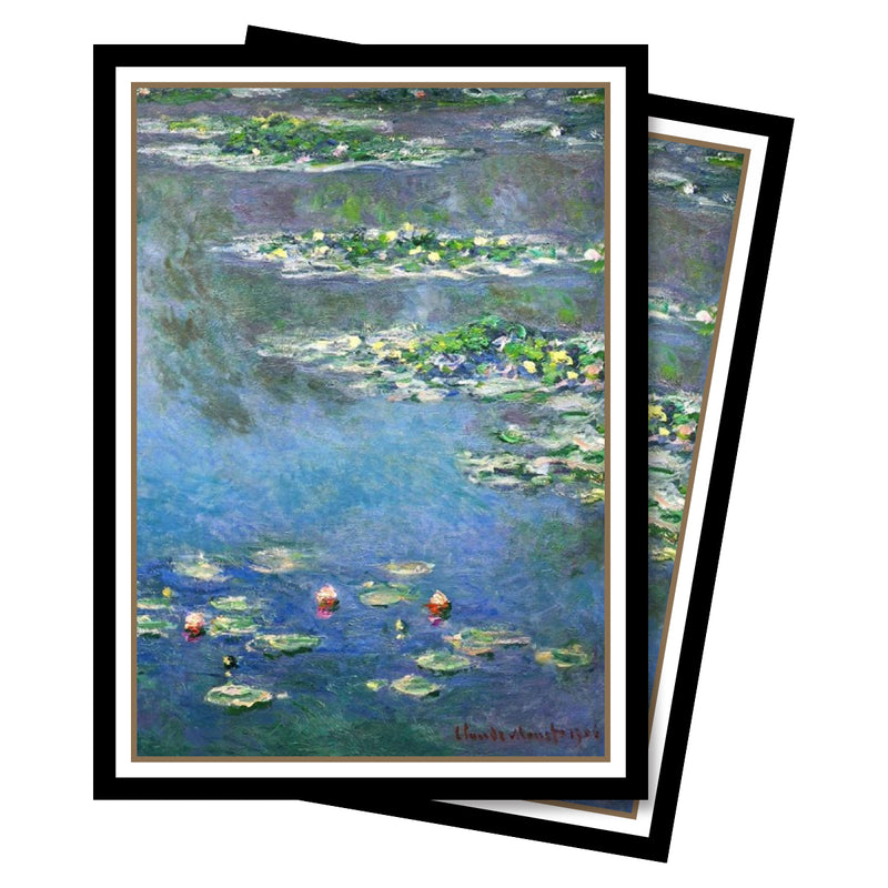 Fine Art - Water Lilies Standard Deck Protectors (65 ct.) - Ultra PRO International