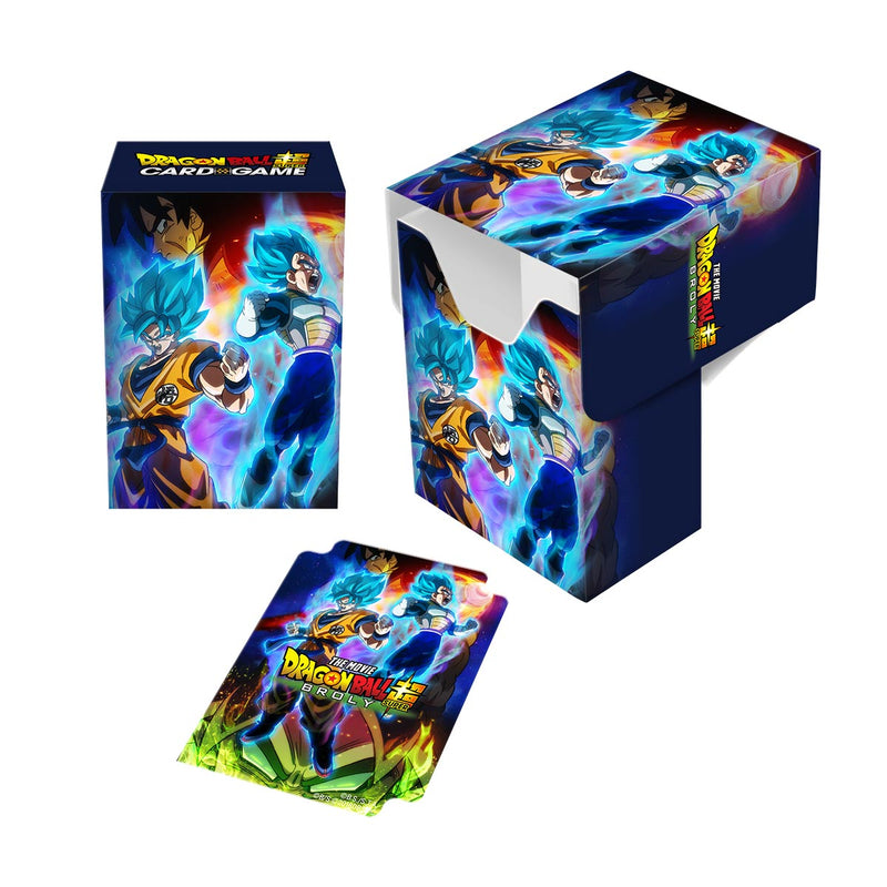 Dragon Ball Super Full-View Deck Box - Goku, Vegeta, and Broly - Ultra PRO International