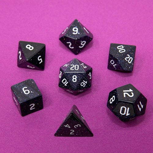 Dice Gemstone 7 RPG Set, Blue Sandstone - Ultra PRO International