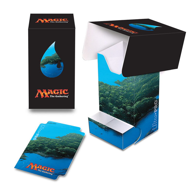 Mana 5 Island Full-View Deck Box with Tray - Ultra PRO International