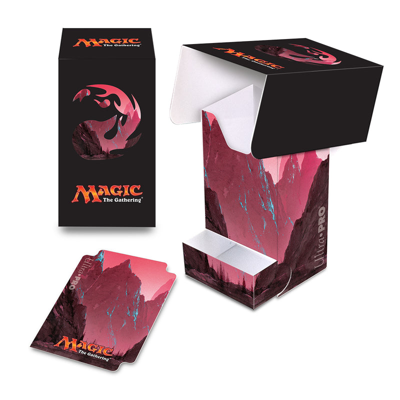 Mana 5 Mountain Full-View Deck Box with Tray - Ultra PRO International