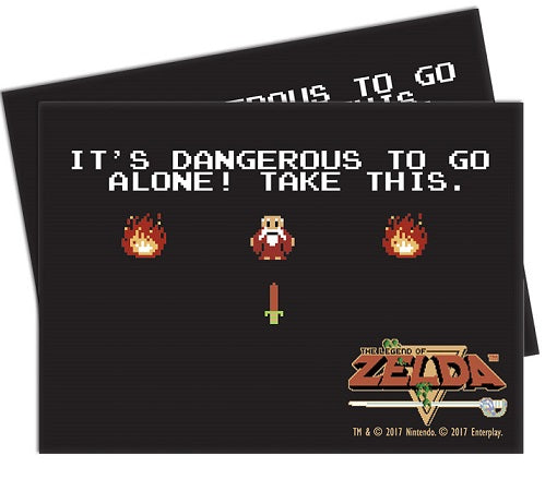 "The Legend of Zelda: It's dangerous to go alone"" Deck Protectors (65 ct.) - Ultra PRO International"