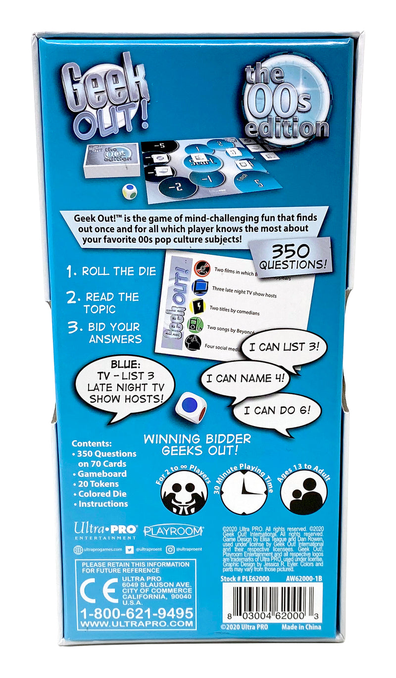 Geek Out! The 00s Edition, Party Game for Ages 13 and Up