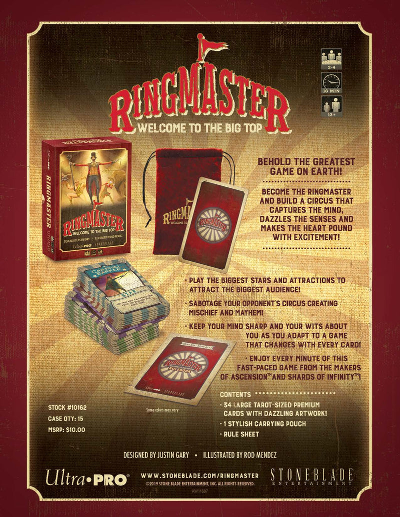 RingMaster: Welcome to the Big Top - Ultra PRO International