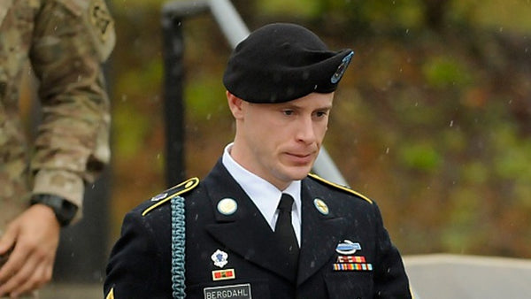 Bowe Bergdahl wearing Infantry Blue Cord, Combat Infantryman Badge, and other medals