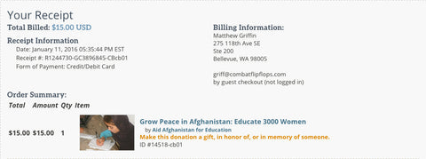 Damon McDuffie Donation to Aid Afghanistan for Education Spread the Stoke