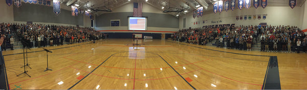800 Student Namaste for Veterans - Eastside Catholic