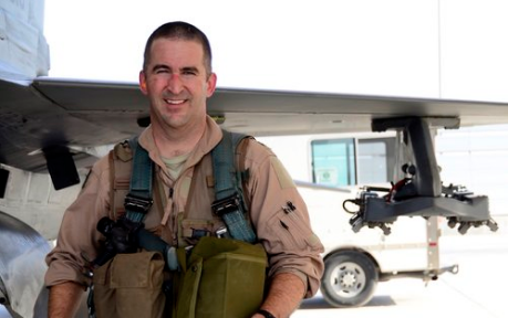 Lt. Col. Eric Chandler was stationed at Kandahar Air Base, Afghanistan. in 2012. Photo courtesy of SSgt. Chris Axelson.